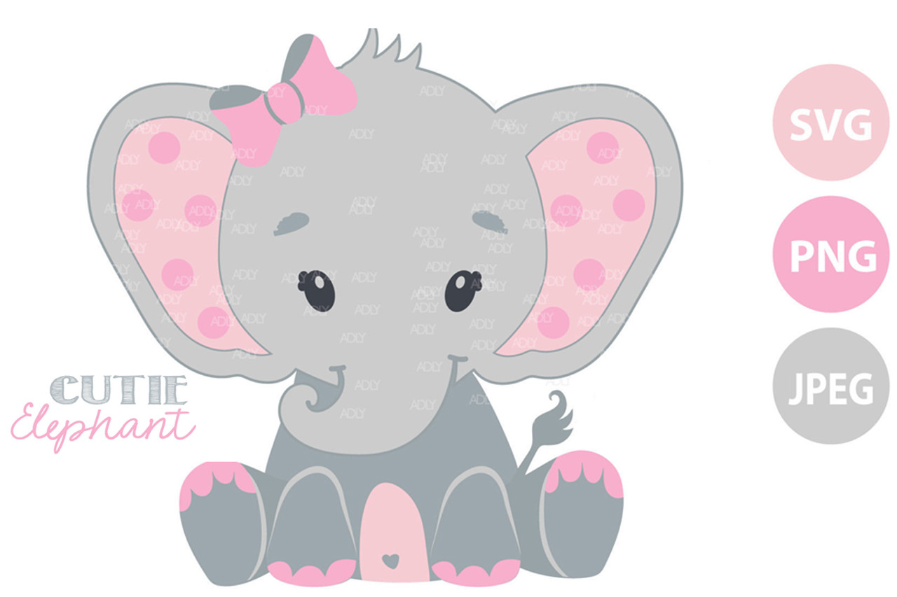 Printable Art elephan Silhouette elephan PNG Silhouette /& Cricut Cut Files Clipart elephan, Baby Elephan with heart SVG