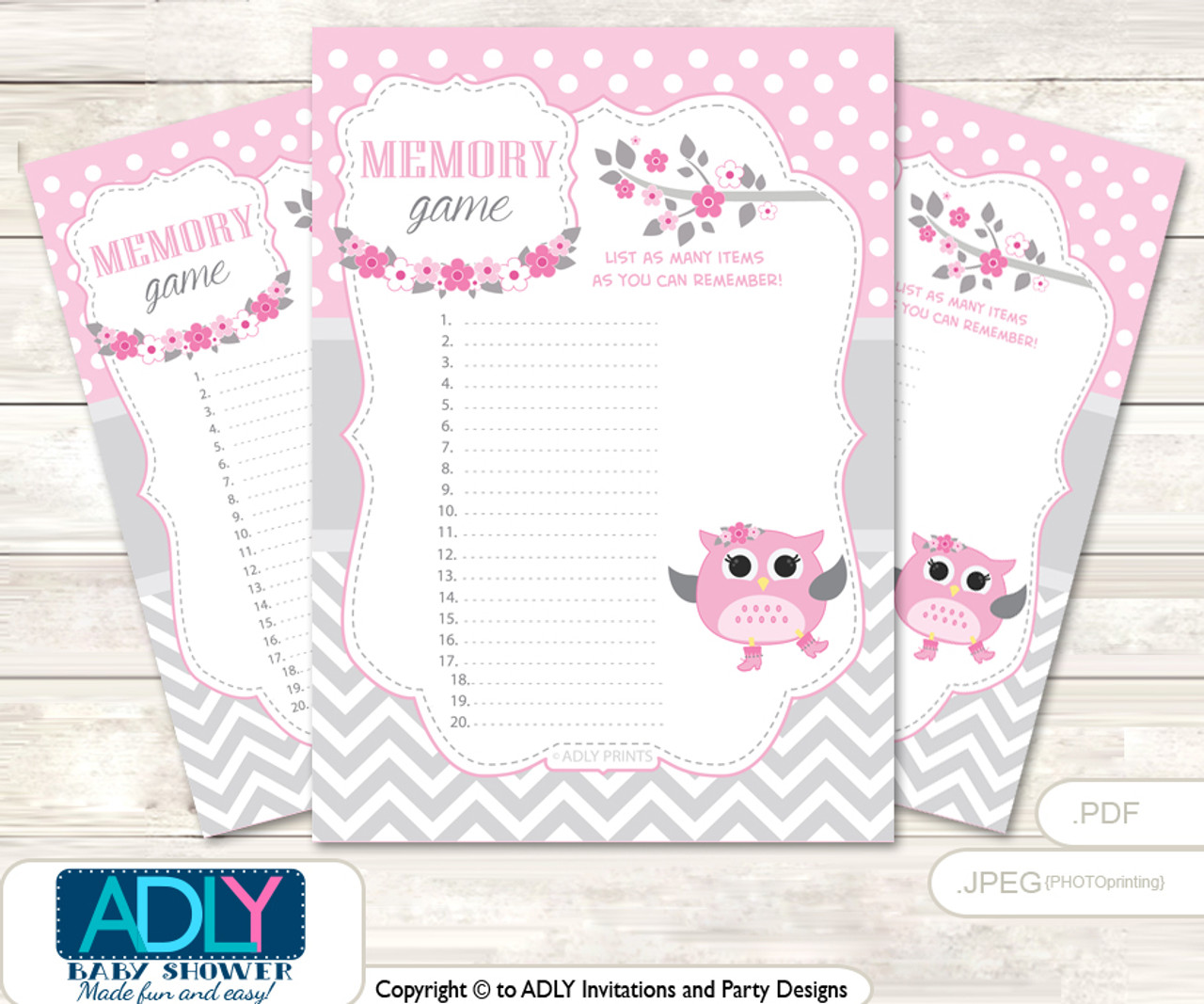 picture relating to Printable Design titled Spring Owl Memory Match Card for Youngster Shower, Printable Bet Card, Gray, Crimson