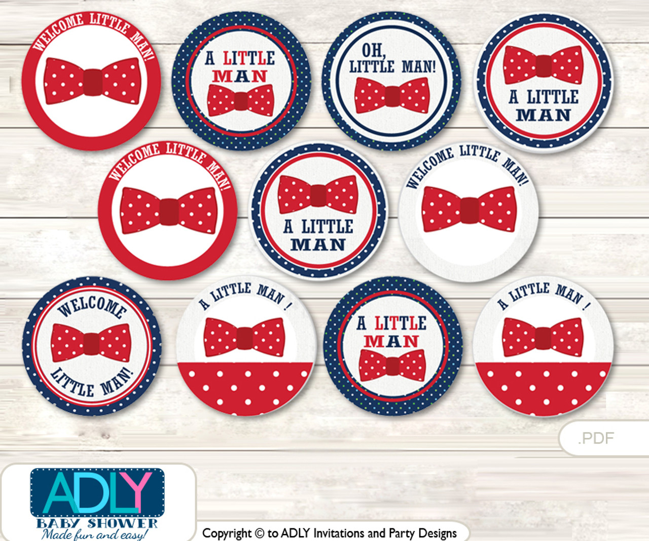 graphic relating to Printable Cupcakes Toppers identify Little one Shower Person Bow Tie Cupcake Toppers Printable Report for Small Gentleman and Mommy-towards-be, desire tags, circle toppers, Purple Military services, Blue