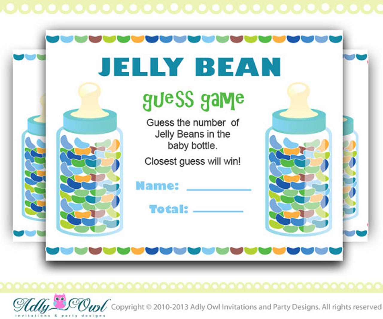 Gender Neutral Colorful Jelly Beans Guess Game How Many Jelly Beans Game For Baby Shower Adly Invitations And Digital Party Designs