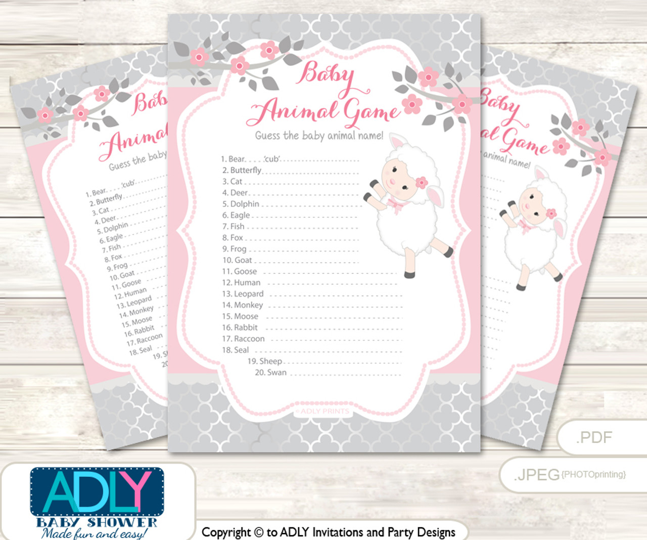 photograph regarding Baby Animal Match Game Printable named Purple Lamb What is inside Mommys Purse, Boy or girl Shower Purse Sport Printable Card , Sheep, Gray Printable Red Lamb Child Animal Sport, Bet Names of Youngster