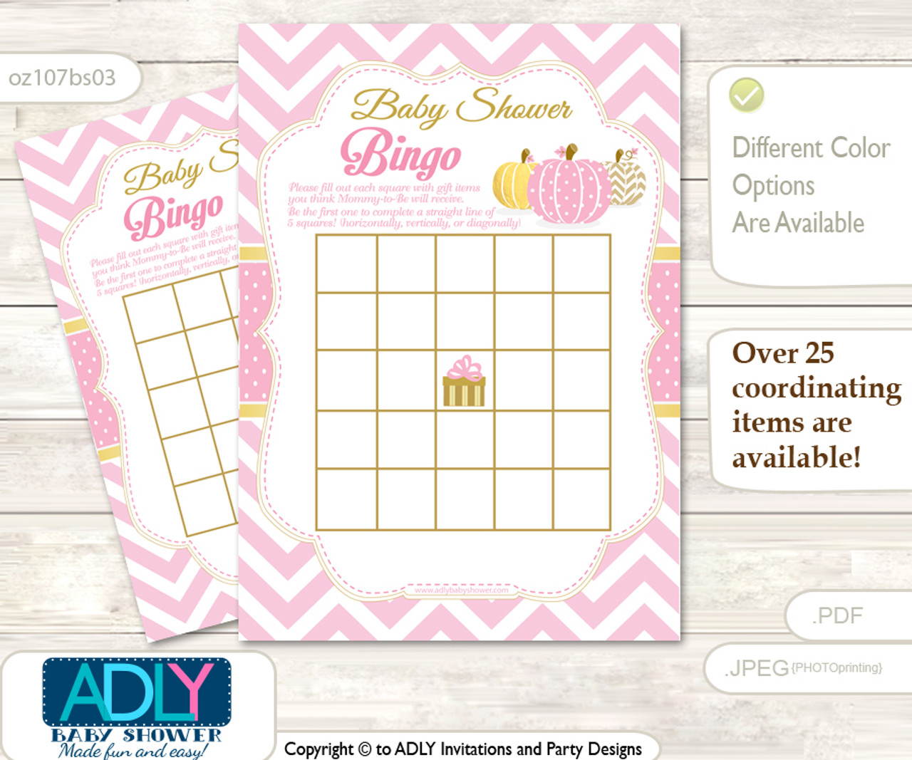 picture about Baby Bingo Printable named Printable Red Pumpkin Bingo Match Printable Card for Youngster Woman Shower Do it yourself gray, Red, Chevron