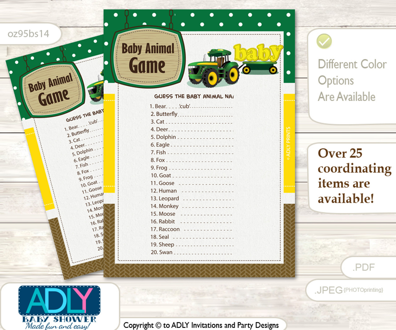 photograph about Baby Animal Match Game Printable titled Boy Tractor What is inside of Mommys Purse, Little one Shower Purse Video game Printable Card , eco-friendly Yellow, Farm Printable Boy Tractor Kid Animal Match, Wager Names