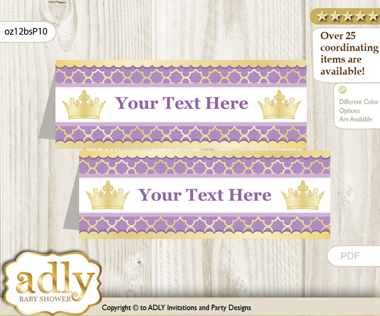 image about Gold Printable Labels referred to as Printable Red Princess Buffet Tags or Meals Tent Labels for a Kid Shower or Birthday , Gold, Royal