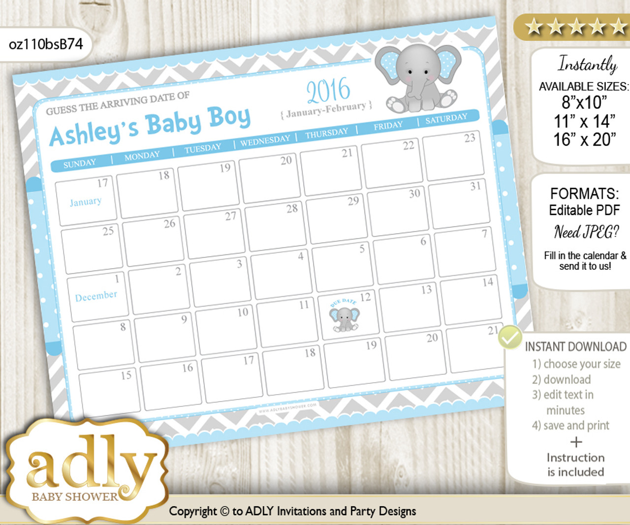 Baby Due Date Calendar Guess Baby Arrival Date Game ADLY