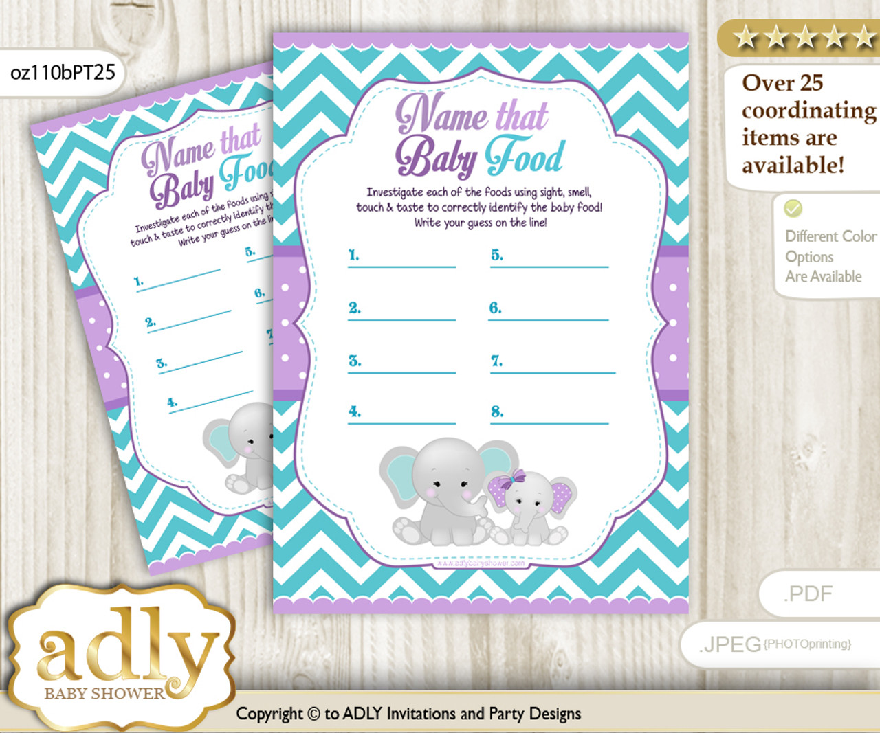 photograph relating to Baby Food Game Printable identify Lady Elephant Wager Kid Meals Sport or Track record That Youngster Foodstuff Match for a Little one Shower, Pink teal Peanut