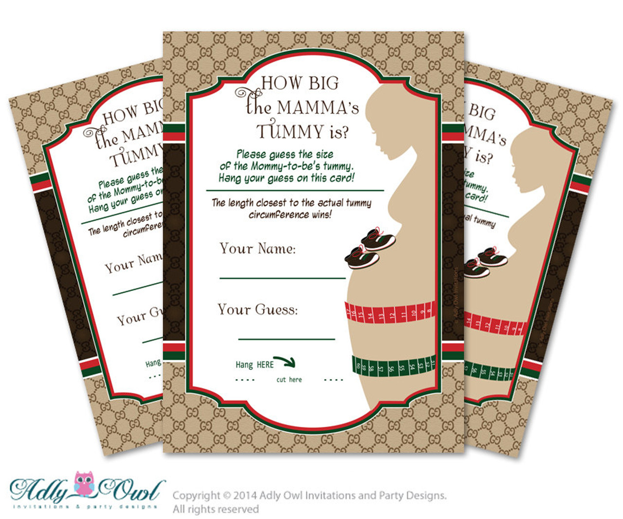 image regarding Guess Who Game Printable named Gucci Boy Design and style Bet Stomach Sport, Belly Wager match Printable Card for Kid Type Shower Do-it-yourself Brown Purple Gucci