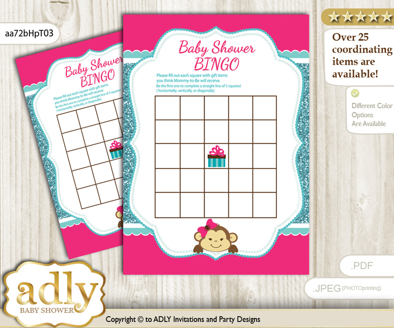 photograph regarding Baby Shower Bingo Cards Printable referred to as Printable Very hot Red Monkey Bingo Recreation Printable Card for Youngster Lady Shower Do-it-yourself gray, Scorching Red, Glitter