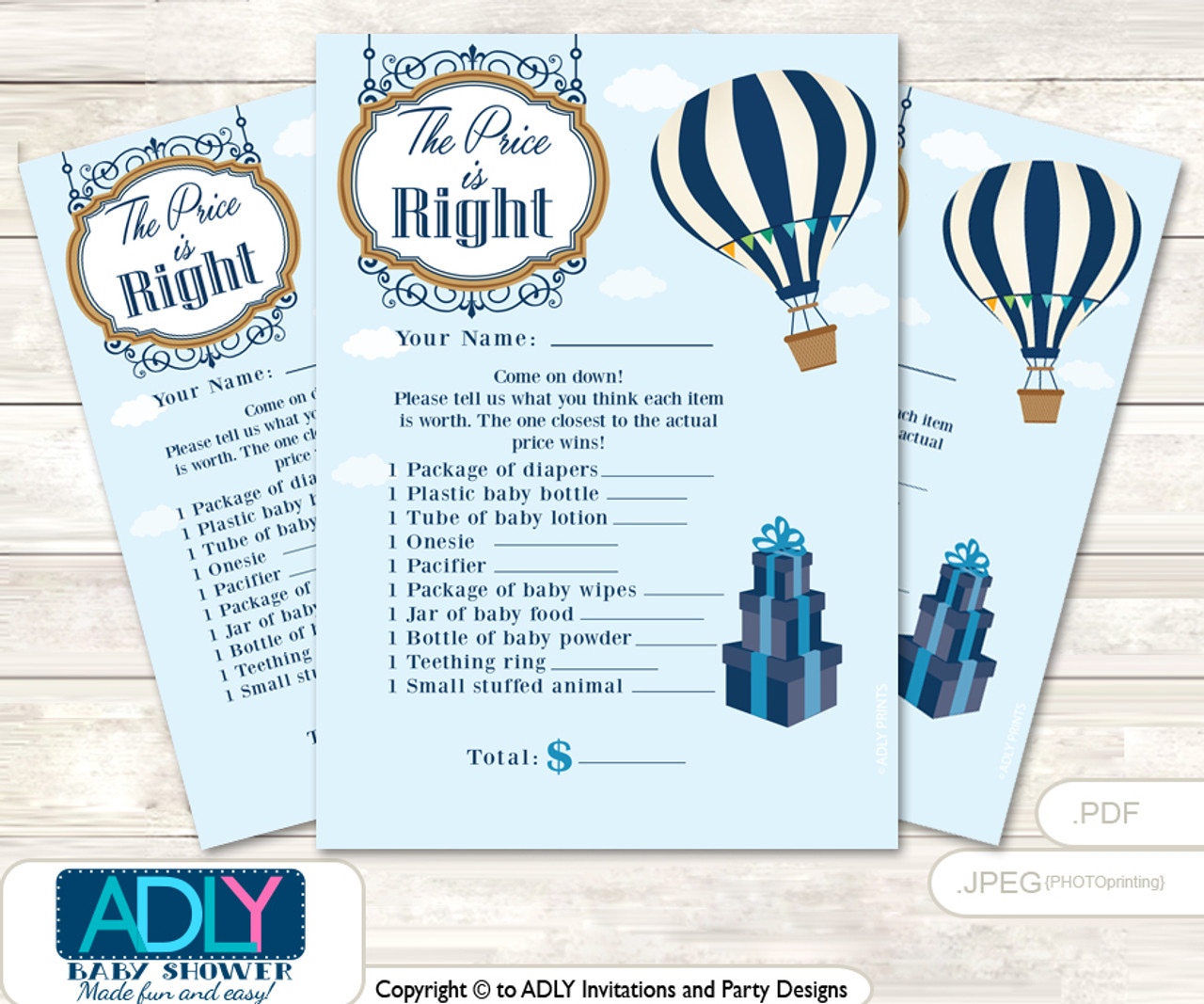 graphic about Printable Hot Air Balloon identify Printable Very hot Air Balloon Price tag is Specifically Activity Card for Child Balloon Shower, blue, Up Absent