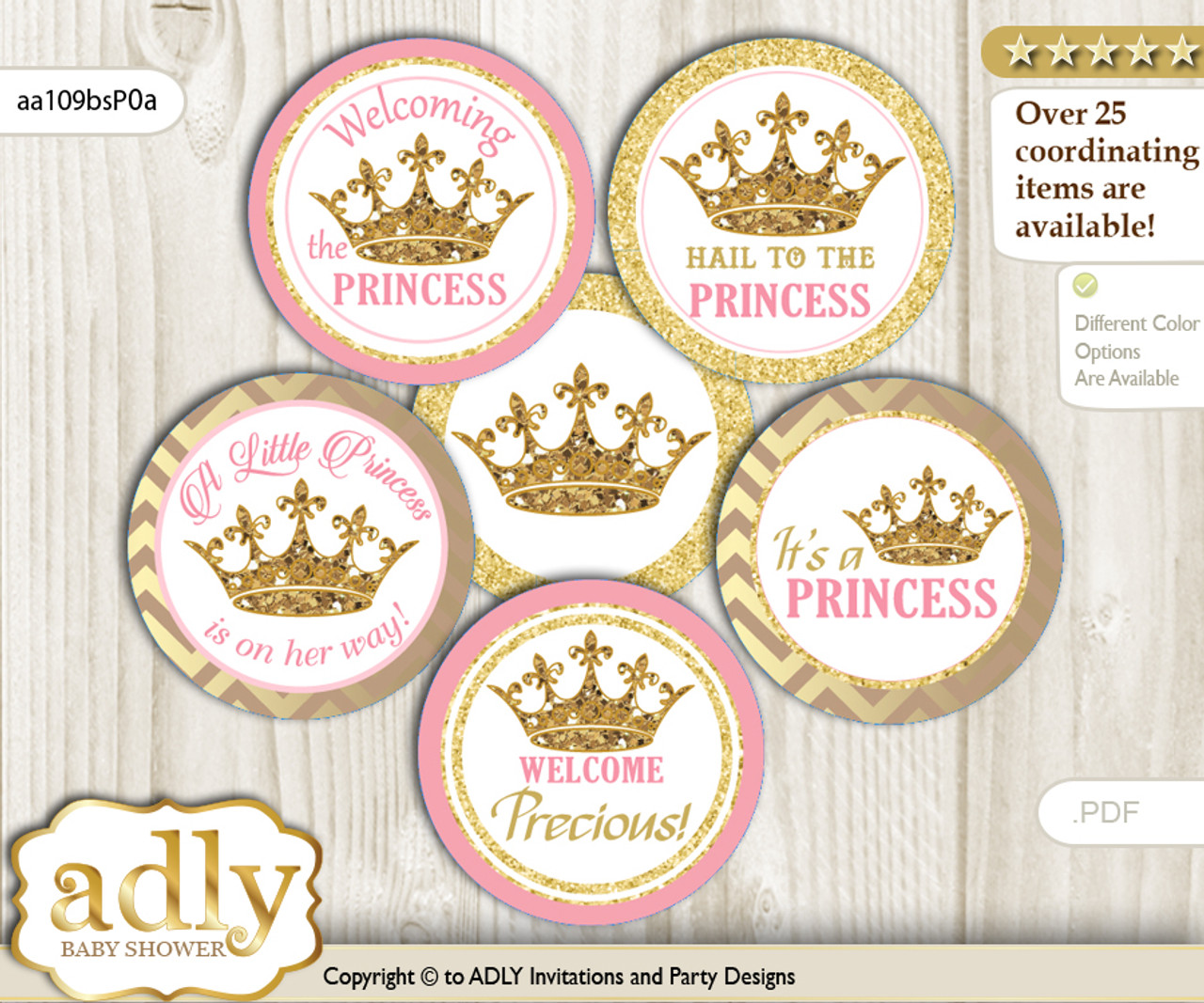 image relating to Printable Cupcakes Toppers identified as Boy or girl Shower Royal Princess Cupcake Toppers Printable Document for Tiny Royal and Mommy-towards-be, desire tags, circle toppers, Glitter, red gold m
