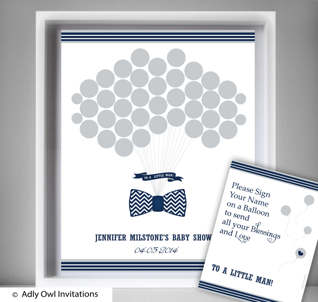 lil man bow tie guest book alternative for a baby shower creative