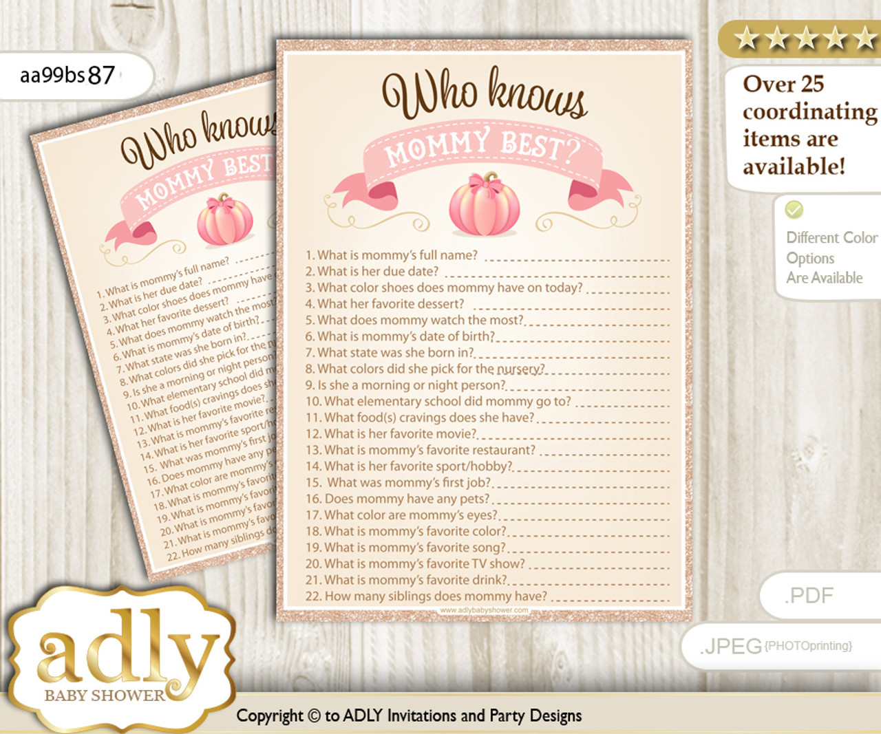 graphic about Who Knows Mommy Best Printable identified as Red Gold Pumpkin Who Is aware Mommy Suitable Electronic Printable Match Card