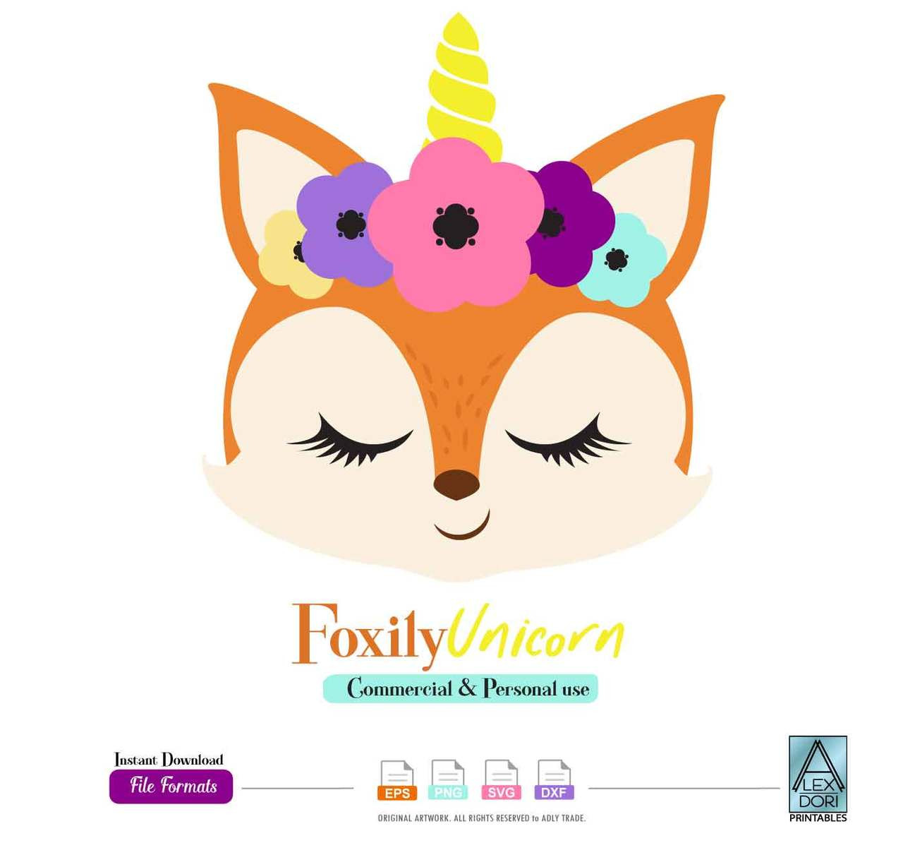 photo regarding Fox Printable identified as Fox Unicorn Clip artwork, Fox printable document,minimize Cricut, Silhouette. Nursery, Child Shower,t-blouse,birthday,drop obtain professional employ the service of,svg, png