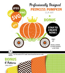 Pumpkin SVG Royal SVG, Clip Art, vector file. Create your own style, product, commercial use, pumpkin carriage illustration, eps, png, jpeg fall