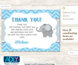 Thank you Printable Card with Name Personalization