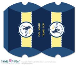 Boy Polo Candy Pillow Box Treat Printable for Baby Polo or Birthday Polo DIY navy yellow , sport shower