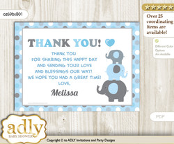 Boy Peanut Thank you Printable Card with Name Personalization for Baby Shower or Birthday Party n