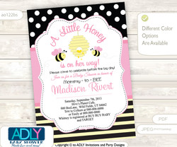 Pink and Yellow Bee Girl Baby Shower