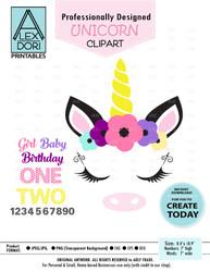 Unicorn Head Clipart, unicorn horse clip art image svg,png,eps