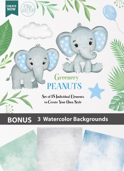 Blue Boy Baby Elephants collection Clipart, transparent background, t shirt, nursery clipart