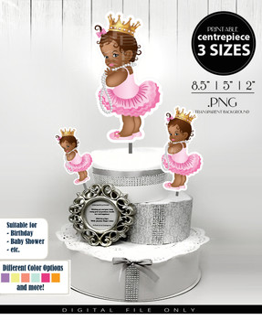 African Princess Centrepiece,royal african princess table centrepiece,shower centrepiece,centrepieces for all events, decorations cake decor