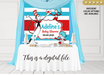 Dr. Seuss Digital Backdrop for birthday, baby shower, any event and any size
