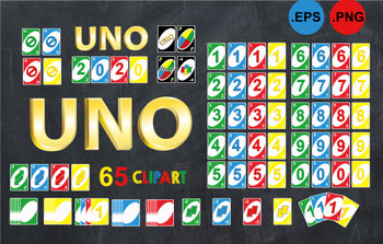 UNO card EPS PNG clipart, 65 uno card clipart set, uno card download,uno card theme,Uno birthday party, Uno Card game,Uno Printable,comm use