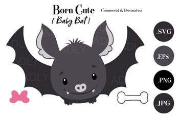 Halloween Baby Bat girl / Boy watercolor ,vector, Halloween clip art, scalable watercolor image for banner, large designs, shower decor, nursery wall art, eps