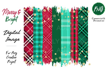 Christmas Sublimation Red Green Brush Stroke Plaid Background, Christmas Sublimation PNG, plaid pattern, christmass transer, holiday clip art, file