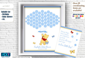 Winnie the Pooh Baby Shower Guestbook for baby boy, winnie the pooh baby shower pritnables, birthday printables