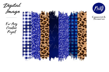 Blue Cheetah Brush Stroke PNG for Sublimation, Royal blue leopard brush stroke background,clipart,png file for sublimate,dark blue, brown