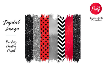 Red Black Brush sublimation, black chevron swash png,  file for sublimation printing, transfer DTG printing