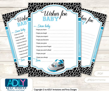 Sneakers Jumpman Wishes for a Baby, Well Wishes for a Little Jumpman Printable Card, MVP, Black