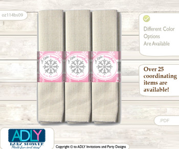 9354a61e1573 Printable Girl Sneakers Napkin Ring Label or Napkin Holders for Baby ...