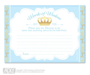 Copy of Baby Shower  Blue Gold Prince Cupcake Toppers Printable File for Little  Blue Gold and Mommy-to-be, favor tags, circle toppers,  Royal,  Crown