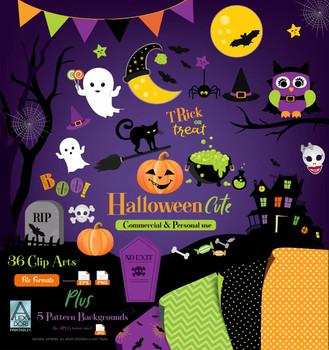 trick or treart Halloween clip art, Cute Halloween clipart, halloween decor vector,png,jpeg Ghost,pumpkin,boo,spooky,witch,trick,wall art commercial use