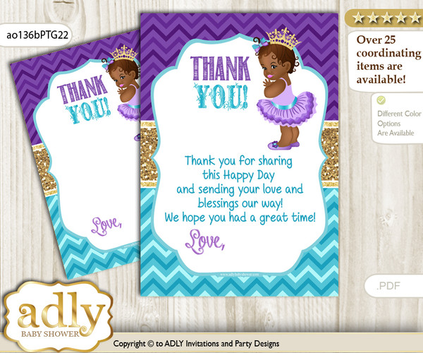 African Princess Thank You Cards For A Baby African Shower Or