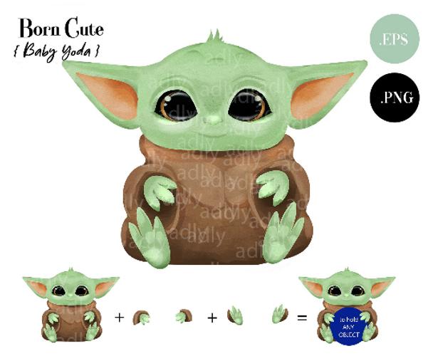 Cute Baby Yoda ClipArt, PNG, Star Wars, Yoda gifts,  Star Wars Gift, Star Wars Coffee Cup, Sublimation, DIY, Star Wars Mug
