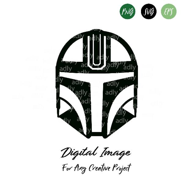 Star Wars Helmet SVG, Star wasr helmet Sticker, The Mandalorian SVG warrior,  jedi helmet, jedi fighter, star wars for dad, printable design, cut