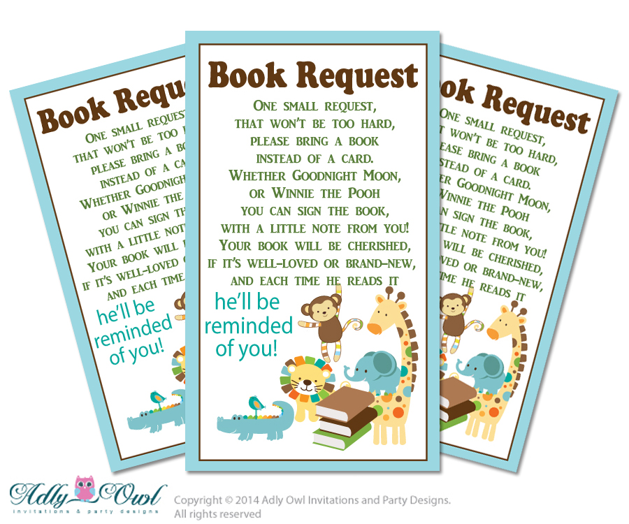 image regarding Bring a Book Instead of a Card Printable titled Boy Jungle Ebook Talk to Kid Shower Printable Do it yourself Tickets, Ebook rather of card, Its a Boy, Safari - Just electronic history - aa31