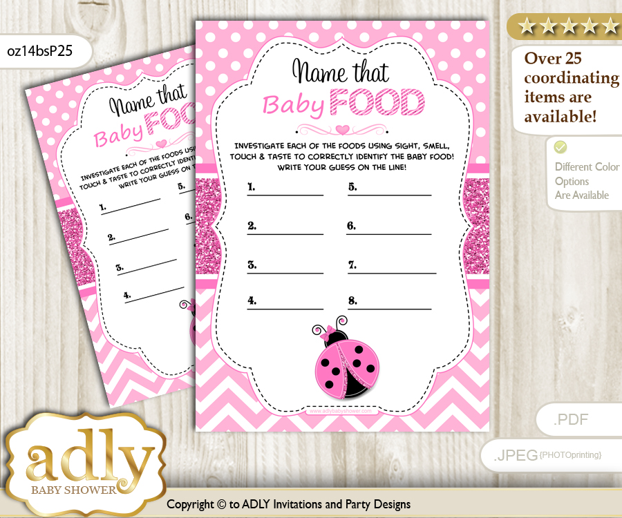 Girl Ladybug Guess Baby Food Game Or Name That Baby Food Game For A