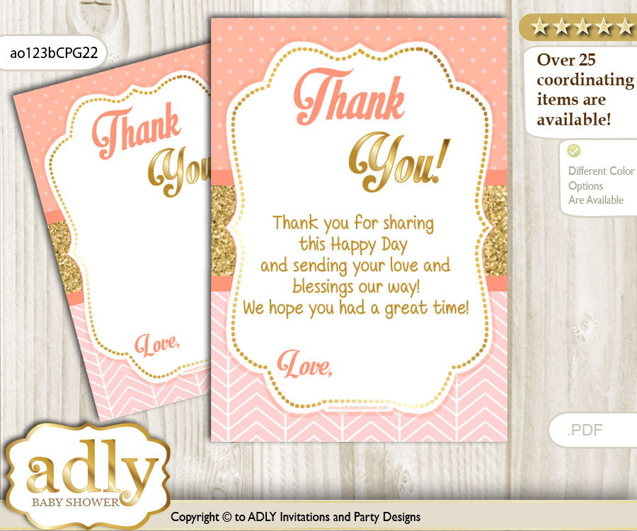 Baby Girl Thank You Cards For A Baby Baby Shower Or Birthday Diy