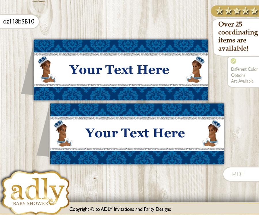 diy text editable printable african prince buffet tags or food tent