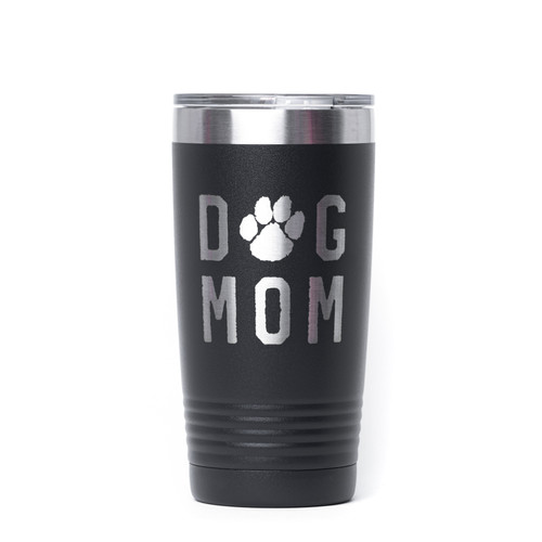 Dog Mom Rough Engraved Tumbler