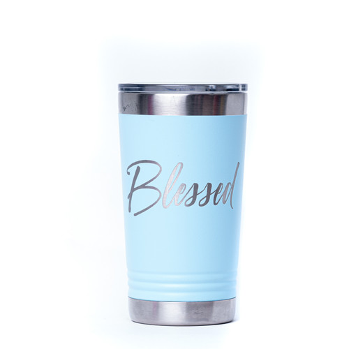 Blessed Cursive Engraved Tumbler