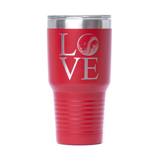 Love Baseball Engraved Tumbler