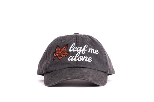 Leaf Me Alone - Mesh Baseball Hat - White/Rust/Black/Charcoal
