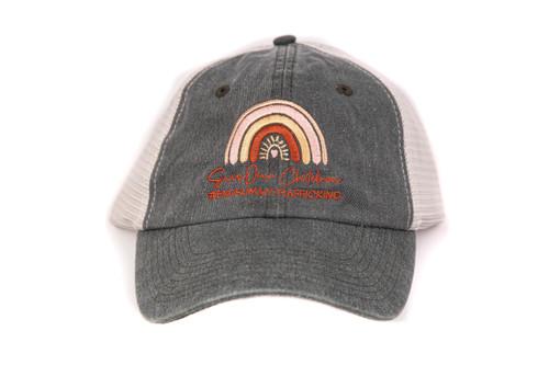 Save Our Children #endhumantrafficking *Donation* - Mesh Baseball Hat - Vintage Black/Stone