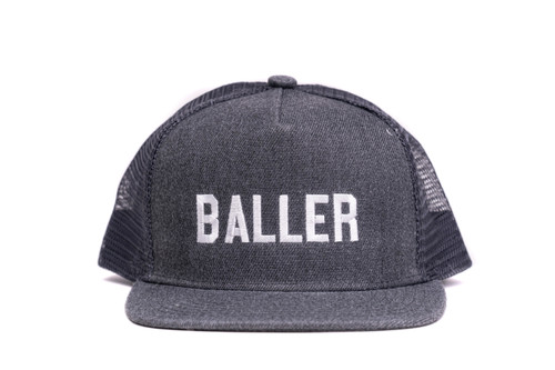 Baller Heather Charcoal Trucker Hat