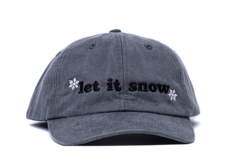 Let It Snow - Baseball Hat - White/Black/Gray